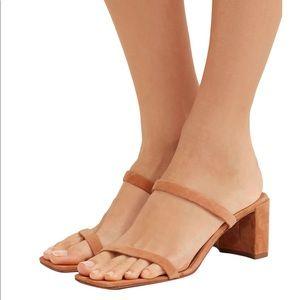 BY FAR Tanya Tan Leather Sandals SZ 11